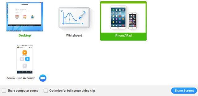 Chia sẻ màn hình qua zoom